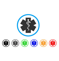 medical life star rounded icon vector image