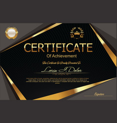 modern certificate or diploma template 1 vector image