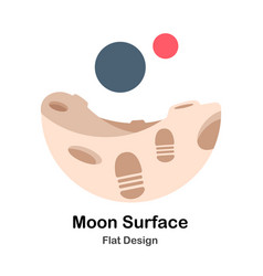 Moon surface flat vector