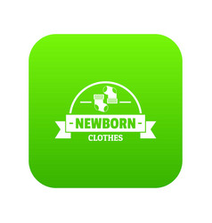 newborn clothes icon green vector image