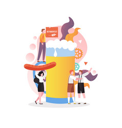 oktoberfest celebration concept for web vector image