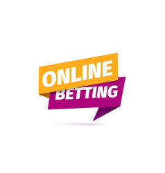Online betting isolated icon paper sticker vector
