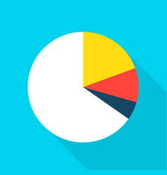 pie chart flat icon vector image
