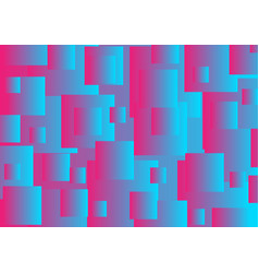 Pink and blue abstract squares tech background vector