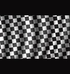 Racing and rally car checkered flag vector