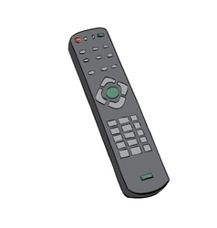 Remote control television color vector image