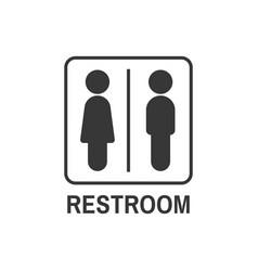 restroom symbol icon vector image
