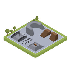 roller skate park icon isometric style vector image