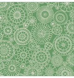 Seamless ornamental pattern with stylized with vector