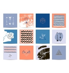 Set of artistic cards vector