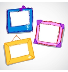 Set of cute frame vector