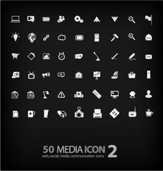 Set of Office Icon ofoffice mediamobile vector image vector image