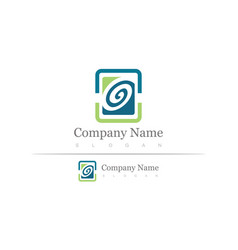 square letter g company logo vector image