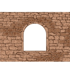 Stone window vector