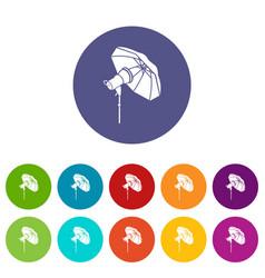 studio flash with umbrella icon in simple style vector image