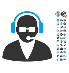 Support operator icon with free bonus vector