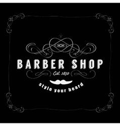 Vintage Barber Shop Badg vector