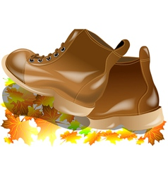 Walking boots vector
