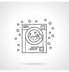 Washing machine flat line design icon vector image