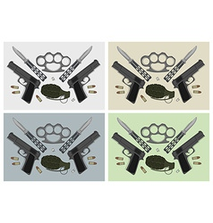 Weapon backgrounds vector image