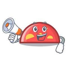 with megaphone semicircle character cartoon style vector image