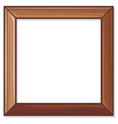 wooden frame vector image vector image