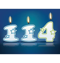 Birthday candle number 114 vector