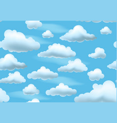 clouds on blue sky seamless pattern vector image
