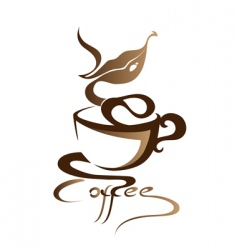 coffee sign vector image vector image