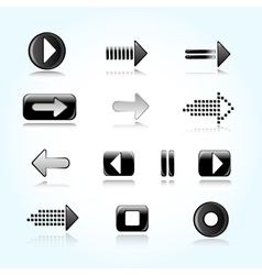 Icons of arrows vector image vector image