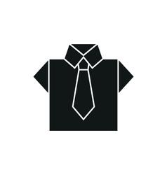 shirt icon on white background vector image