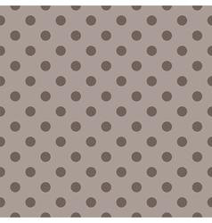 Tile pattern brown polka dots on dark background vector image vector image