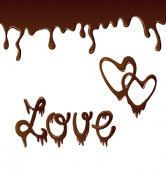 vector chocolate background vector image