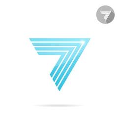 Arrow logo template vector image vector image
