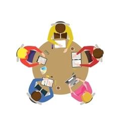 Cartoon Team Meeting vector image