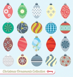 Christmas Ornaments Collection vector image vector image