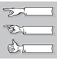 hands of the human vector image vector image