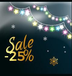 sale -25 garlands snowflake vector image