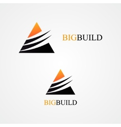 Triangle design logo vector image vector image