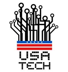 USA tech symbol vector image vector image