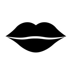women lips cartoon kiss design vector image