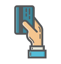 Credit card payment filled outline icon business vector