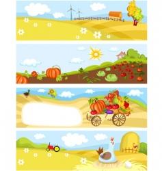 farm cards vector image vector image