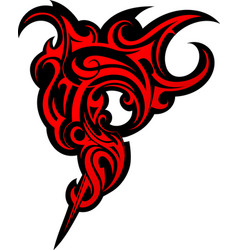 Fierce tattoo vector image