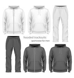 Men hooded tracksuit vector image vector image