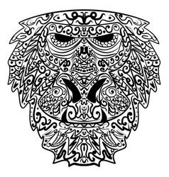 monkey stylized zentangle style ethnic monkey vector image vector image
