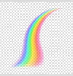 transparent rainbow vector image vector image
