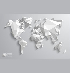 3d polygonal world map vector image