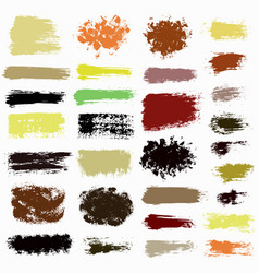 brush strokes set 0015 vector image vector image