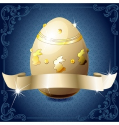 chocolate egg vector image vector image
